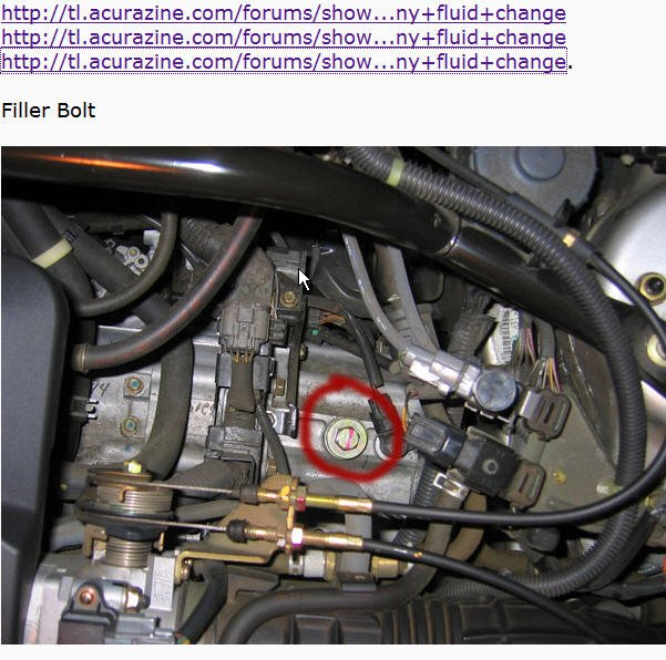 Transmission Oil Acura Forum Acura Forums - Acura tl transmission fluid