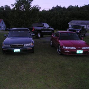 My 95 Legend LS with my 92 Integra GS